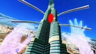Blasting Aliens Disguised as Buildings in VR! - Megaton Rainfall Gameplay - VR HTC Vive