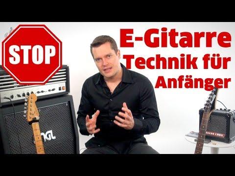 E-GITARRE KAUFEN & TECHNIK FÜR ANFÄNGER EMPFEHLUNG
