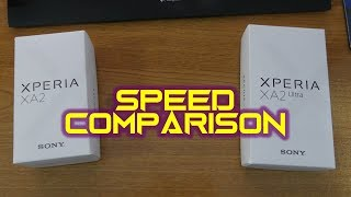 Sony Xperia XA2 vs XA2 Ultra - working and speed comparison