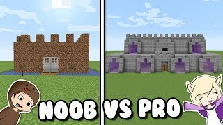 CASTILLO DE NOOB VS PRO EN MINECRAFT