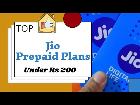 Reliance Jio Best Prepaid plan for less than Rs 200
