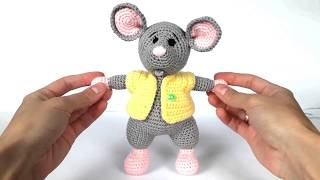 Мышка крючком. Вязаный мышонок. Вязаная мышка. Crochet mouse
