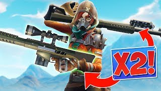 ЭПИК ТАКТИКА: ДВЕ ТЯЖЁЛЫХ СНАЙПЕРКИ! *x2 Heavy Sniper* [Fortnite Battle Royale]
