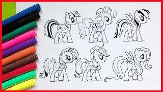 Đồ chơi trẻ em | Tô màu tranh My Little Pony | Bé học màu sắc và học vẽ (Chim Xinh)