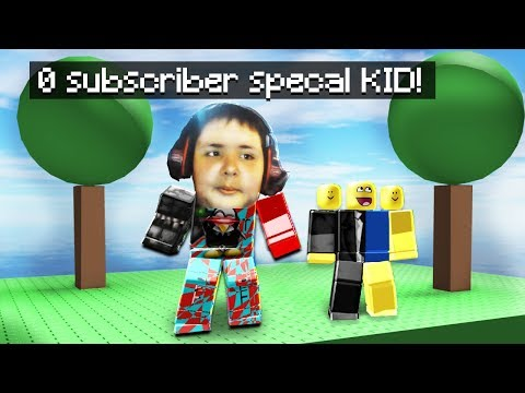 Playing ROBLOX with the 0 subscriber kid!