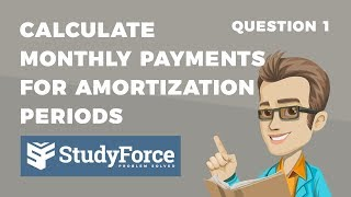 📚 How to calculate monthly mortgage amortization payments (Question 1)