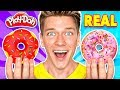 Doh! Learn How To Make Diy Edible Candy vs Real Squishy Food Challenge