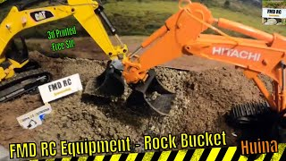 FMD RC Equipment - 3D printed ROCK BUCKET - FREE STL - Huina 1592+1580