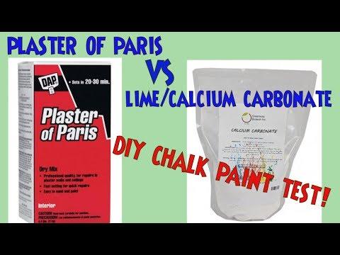 Plaster of Paris vs Calcium Carbonate (Lime) DIY Chalk Paint Test Challenge *Chalkpaint Recipe Test!