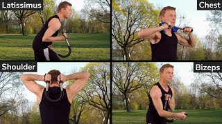 Fitness-Gadgets: Biegehantel 10 Top Übungen (Brust, Schultern, Bizeps, Rückenmuskeln ) Power Twister