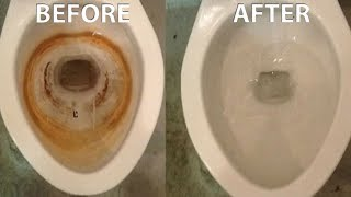 How to Easily Remove Hard Water and Rust Stains From a Toilet or Any Porcelain
