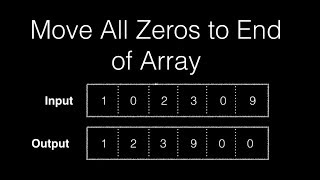 Move All Zeros to End of Array : Algorithm & Code Examples