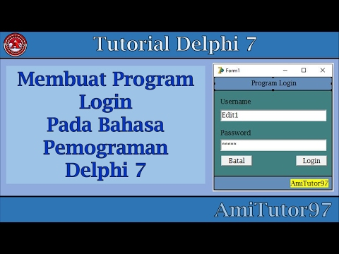 Tutorial Membuat Program Login Di Delphi 7