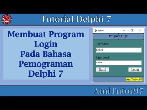 Tutorial Membuat Program Login Di Delphi 7