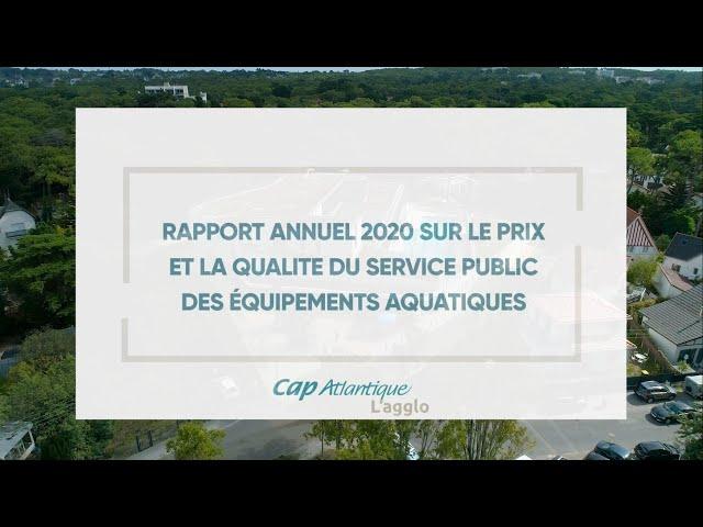 Rapport annuel 2020 sur le prix et la qualité du service public des équipements aquatiques