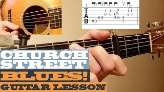 Church Street Blues - Tony Rice - Intermediate Guitar Lesson with TAB