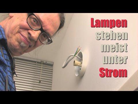 Lampe anschließen - Einfache Anleitung -- DIY