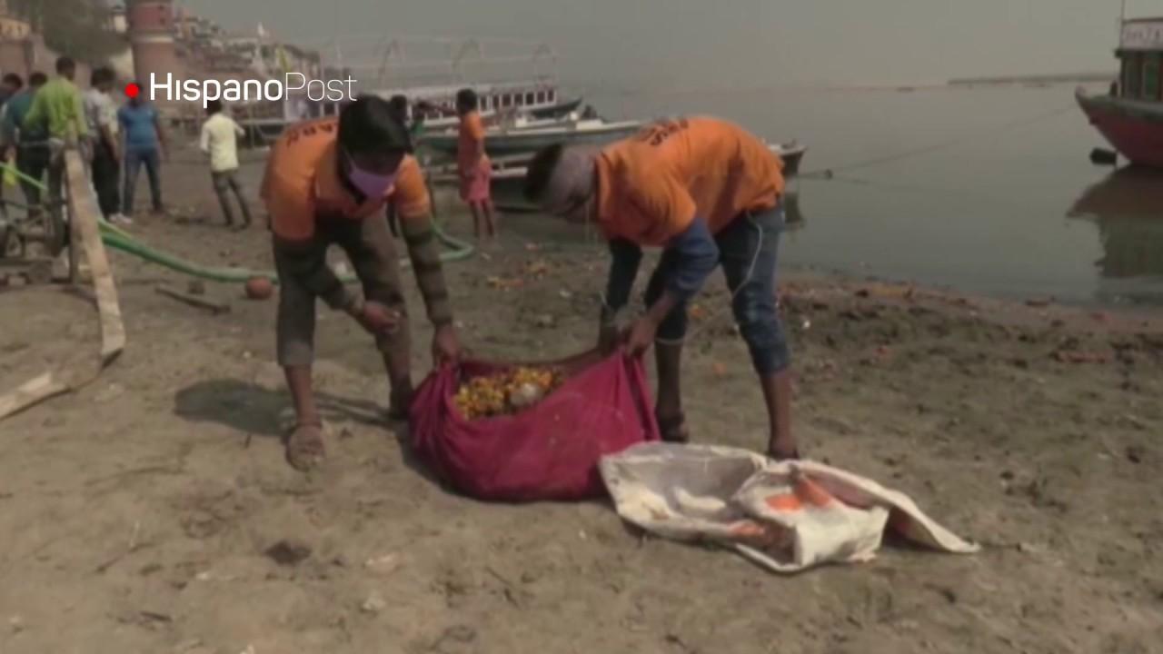 Contaminación afecta al sagrado río Ganges en India