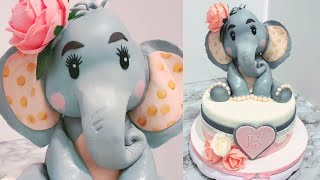 How To Make A ( Elephant Baby Shower Cake Topper )