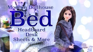 Christmas Gift Ideas: How To Make Modern Dollhouse Bed | Headboard | Desk & More