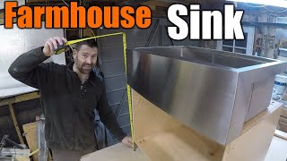 How To Build A Farm House Style Sink Cabinet | THE HANDYMAN |