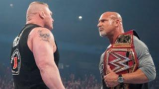 Hard-hitting history between Goldberg and Brock Lesnar