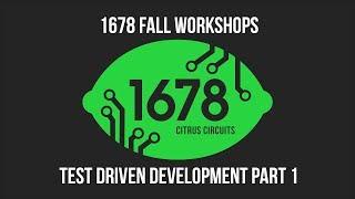 Fall Workshops 2018 - Test Driven Development (Part 1)