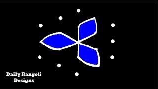 Very Very Easy Rangoli Designs with 5X3 Dots | Simple Kolam Rangoli Muggulu Art |Easy Kolangal #898