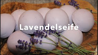 Seife selber machen - Lavendelseife - Vegan - Palmölfrei