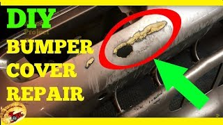 How To Repair A HOLE In A Plastic Bumper Cover!
