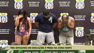 preview picture of video 'Trio envolvido em execuções é preso na zona norte de Manaus'