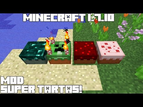 Minecraft 1.7.10 MOD SUPER TARTAS! CakeIsALie Mod Review Español!