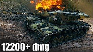 T57 Heavy wot как играть 🌟 12200+ dmg 🌟 медаль ФАДИНА World of Tanks лучший бой т57 хеви
