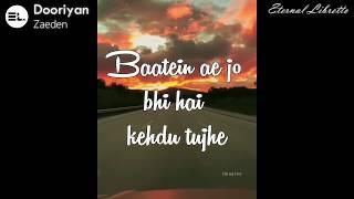 Zaeden - dooriyan (Lyrics Video) - YouTube
