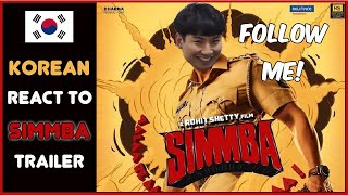 Korean React To Simmba Trailer   Ranveer Singh   Sara Ali Khan   Sonu Sood   Rohit Shetty  