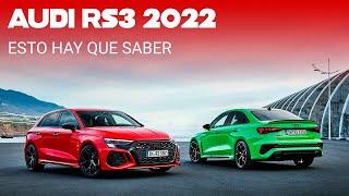 El Audi RS 3 2022 quiere ser el compacto más radical: 400 hp, modo drift y un sofisticado chasis