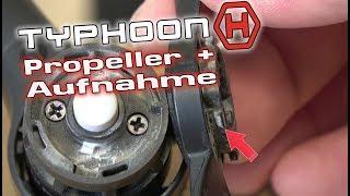 #62 Yuneec Typhoon H   Propeller + Aufnahmen tauschen - Quick Release change (german deutsch)
