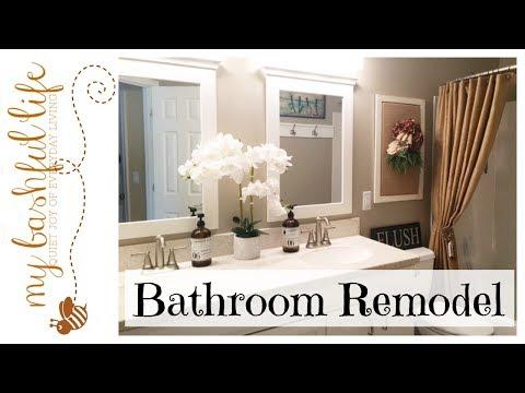 Bathroom Tour / Remodel With Farmhouse Theme