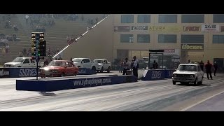 SDR MOTORSPORT RX3 VS MICKS MOTORSPORT COROLLA SIDE BY SIDE 8.10 SEC PASS SUPERNATS 2014