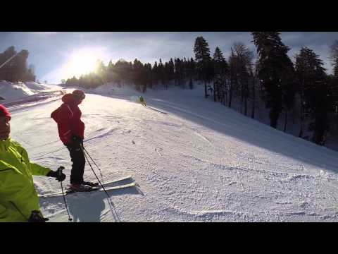Видео: Видео горнолыжного курорта ГТЦ Газпром - Красная Поляна в Красная поляна