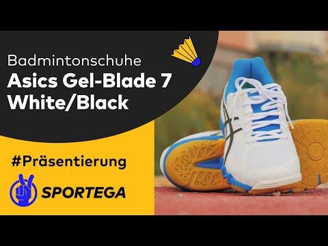 Herren Hallenschuhe Asics Gel-Blade 7 White/Black