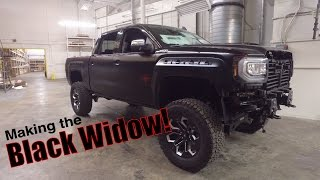 Building a Black Widow custom truck! Behind the scenes!