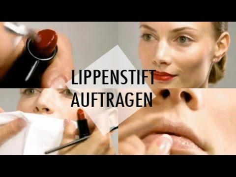 Schminkschule - Mund - Lippenstift auftragen | Brigitte.de