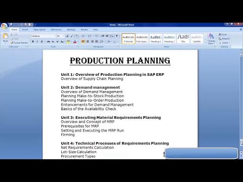 SAP Production Planning Training | SAP PP Module Training ...