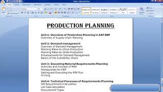 SAP Production Planning Training | SAP PP Module Training