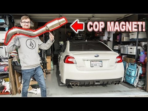 Making Subaru WRX LOUDER after New California Exhaust Law! #AB1824