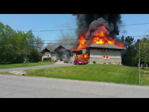 House Fire 6583 Empire Grove St., Greely, ON about 11:30am 24 May 2016