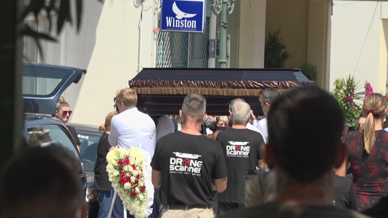 Κηδεία εθελοντή δασοπυροσβέστη Βασίλη Φλωρά