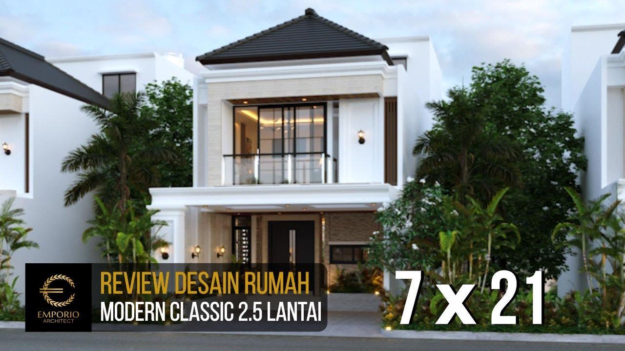 Video 3D Mr. Dwi Modern Classic House 2.5 Floors Design - Jakarta Selatan