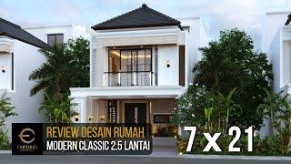 Video Desain Rumah Modern Classic 2.5 Lantai Bapak Dwi di  Jakarta Selatan